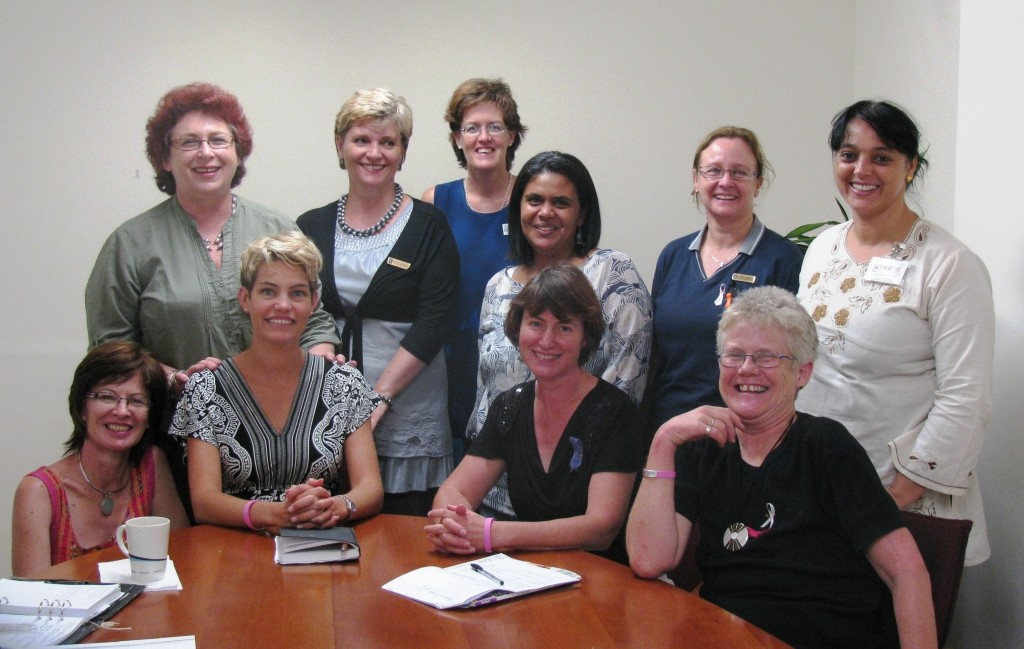 Group of oncology social workers in Cape Town, February 2011